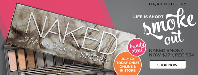 Ulta Urban Decay Naked Smoky Palette 50% OFF Sale 2016 Coupon Code $27