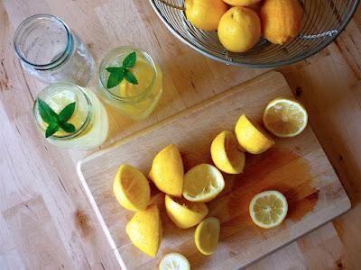 citron dans la matinée
