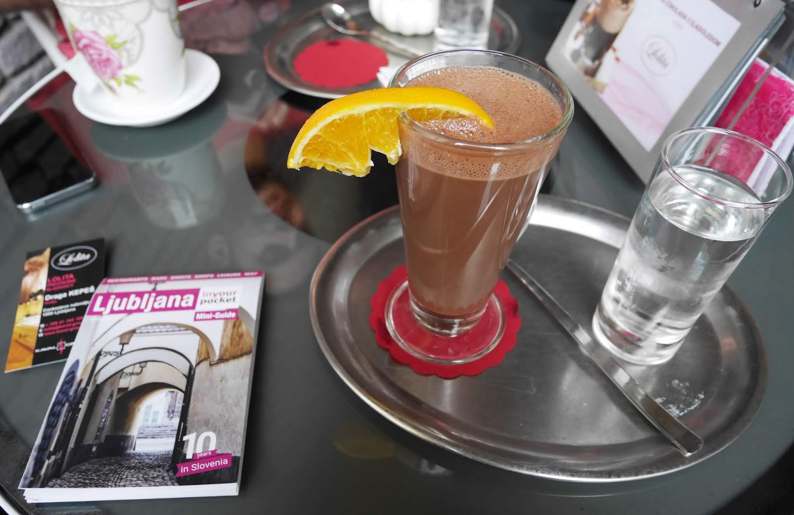 Hot Chocolate at Lolita tearoom in Ljubljana, Slovenia