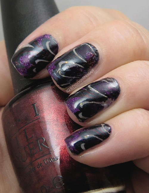 Nail Art Watermarble Stamping Nail Fail Procrastinails
