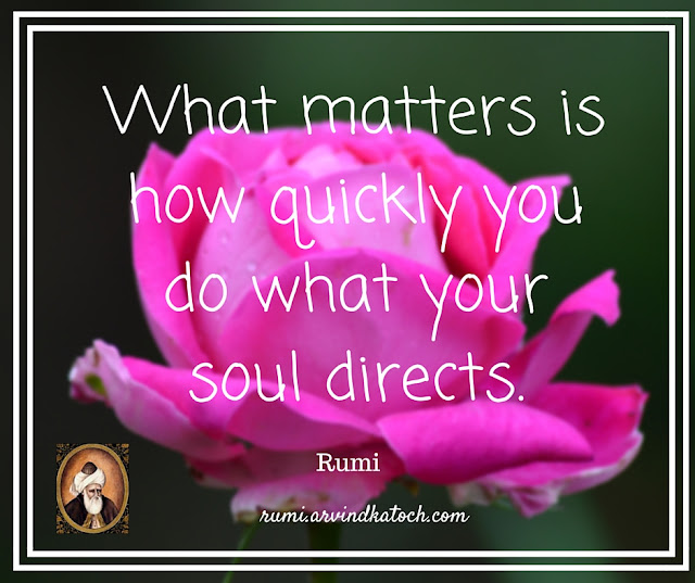 Rumi Quote, Meaning, matters, quickly, soul, directs, Rumi,