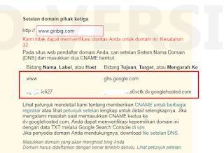Panduan Custom Domain Blogspot Menjadi Domain Sendiri
