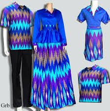 Baju Batik Keluarga Muslim plus anak