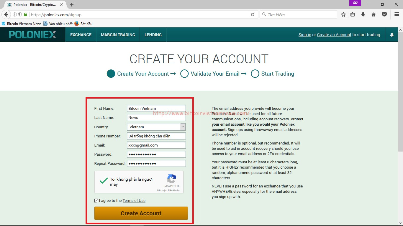 how to buy coins in poloniex