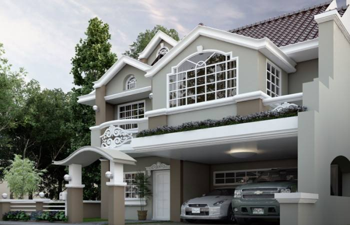 English Model 180 Meters Square House Design and Plans