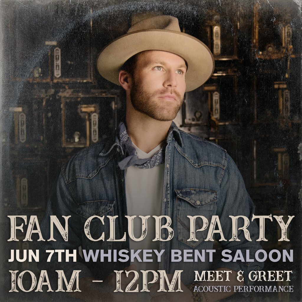 Drake White Announces 2018 Fan Club Party To Be Held During Cma Fest