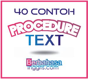 Image Result For Contoh Procedure Text Bahasa Inggris Dan Terjemahannya
