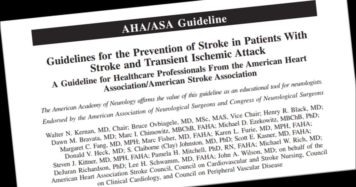 Nuevas guías de prevención secundaria del ictus de la AHA