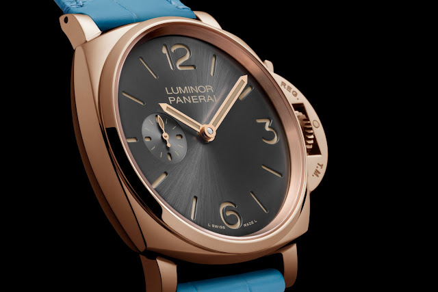 PANERAI LUMINOR DUE 3 DAYS ORO ROSSO lateral blog debajo del reloj
