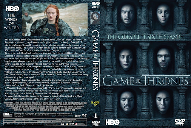 Capa DVD Game Of Thrones Sexta Temporada