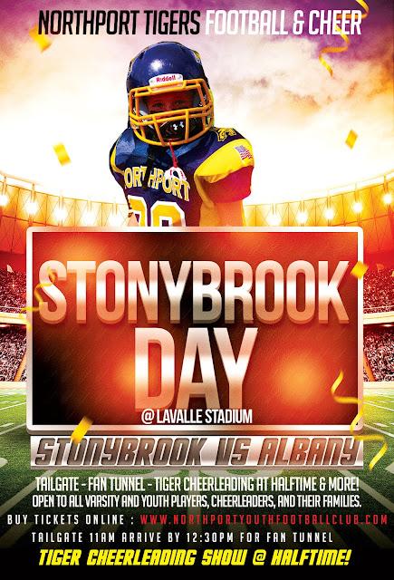 Northport Tigers Stonybrook Day: Stonybrook vs. UAlbany - Nov 4, 2017