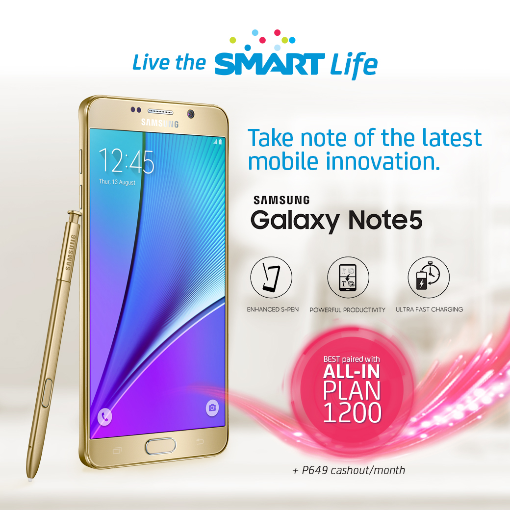 Samsung Galaxy Note 5 at All-In Plan 1200