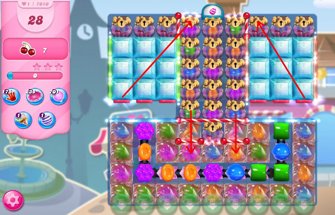 Candy Crush Saga level 7010