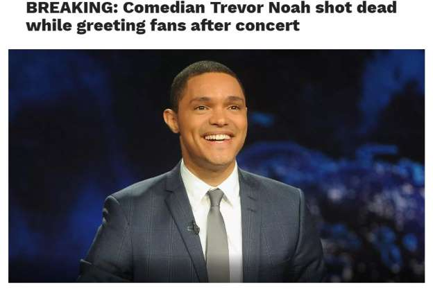 Trevor Noah Death Hoax Uses Christina Grimmie Death Details