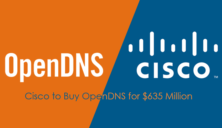 Cisco to Buy OpenDNS Company for $635 Million