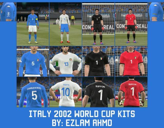 Italy 2002 World Cup Kits PES 2017