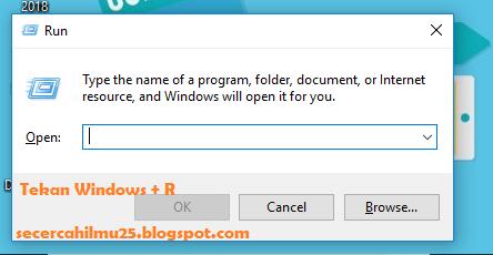 cara membuka aplikasi RUNcara membuka aplikasi RUN di PC/Notebook