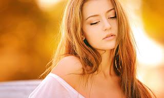 Ein junge schöne Frau