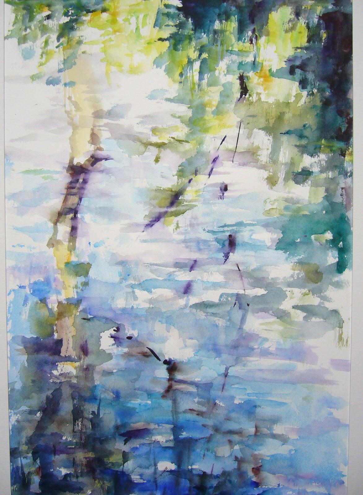 Artiste Peintre Aquarelliste Reflets Sur L Eau