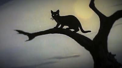 image d'un chat noir d'halloween