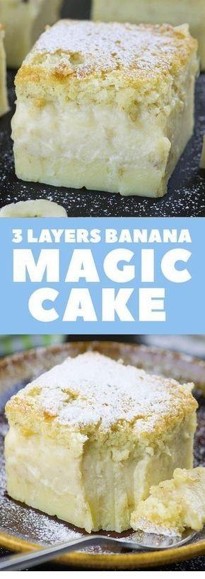 Easy Banana Magic Cake