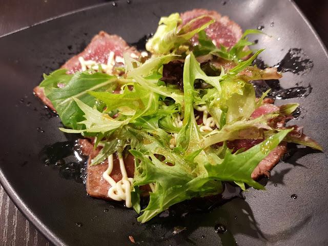 Okami Japanese Restaurant, Camberwell, beef carpaccio