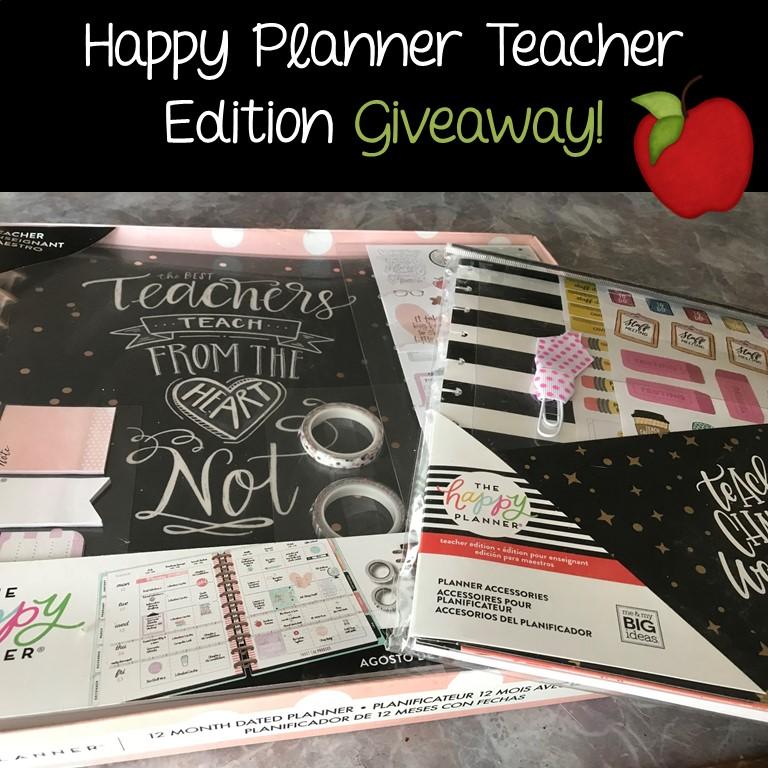 An Apple For The Teacher: Teacher Happy Planner Giveaway
