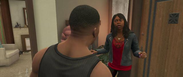 Franklin and Tanisha in GTA 5