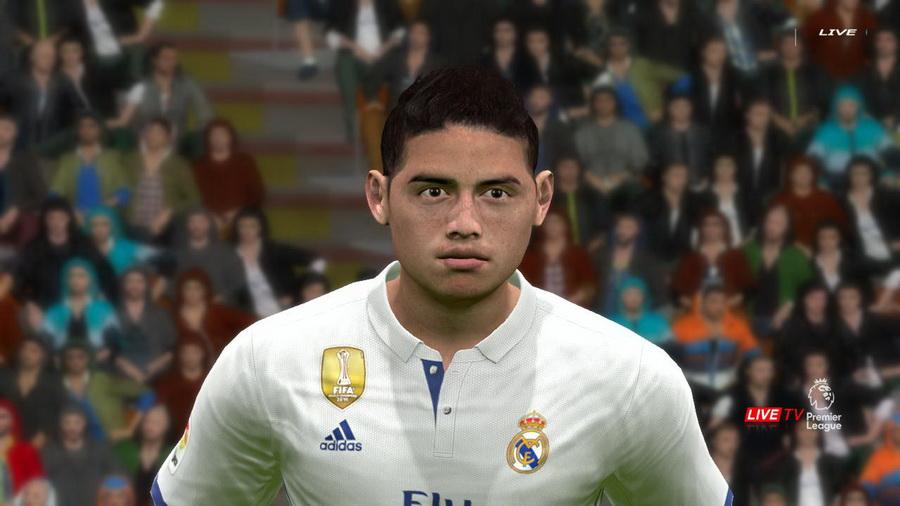 PES 2017 James Rodríguez face by Prince Hamiz