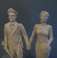 statuine fatte a mano per torta nozze da colorare sposi orme magiche
