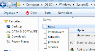 Block a Websites using Host File