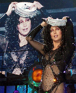 Cher during her last concert tour
