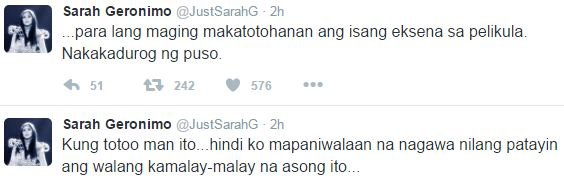 Pop Star Sarah Geronimo Reacts To Oro's Alleged Dog Slaughter: 'Nakakadurog ng puso.'