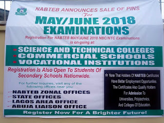 NABTEB May/June Exam Registration Form - 2018/2019 | NBC & NTC