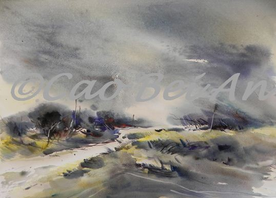Le chemin cao bei an for Aquarelliste chinois