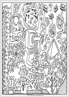 the tyranny of screens keith haring printable adults coloring pages