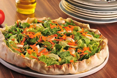 Pizza Vegana de Legumes Sortidos