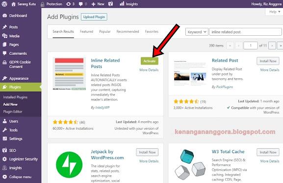 Artikel Terkait Otomatis Dalam Artikel Wordpress