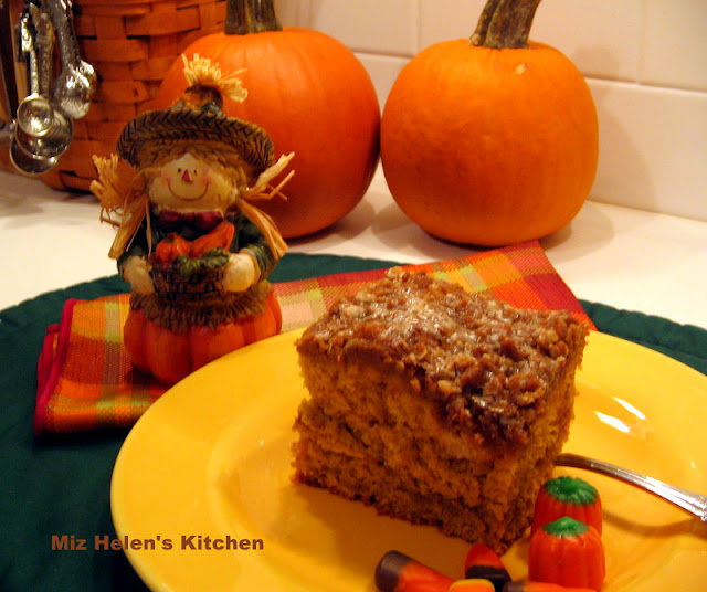 Pumpkin Latte Coffee Cake at Miz Helen's Country Cottage
