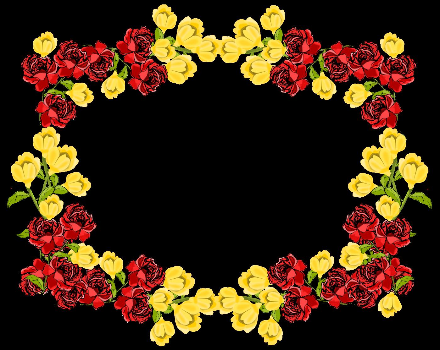 Blumenrahmen Clipart
