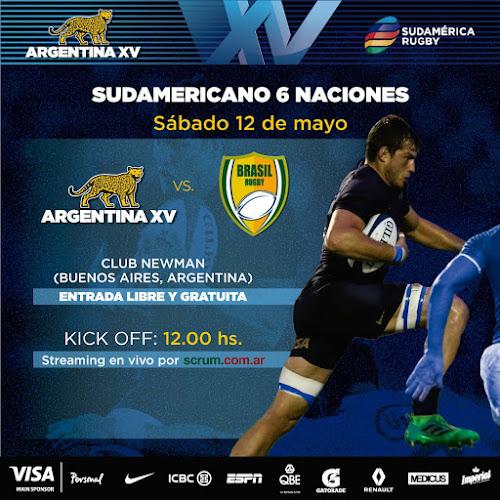 Argentina XV enfrenta a Brasil por el Sudamericano #SAR6N