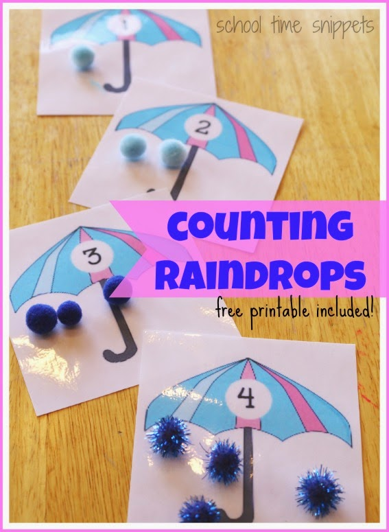 counting raindrops preschool activity