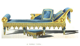 A Gothic sofa from Ackermann's Repository (Dec 1825)