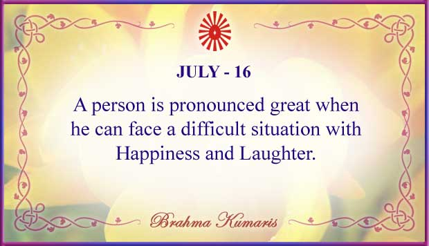 Thought For The Day July 16
