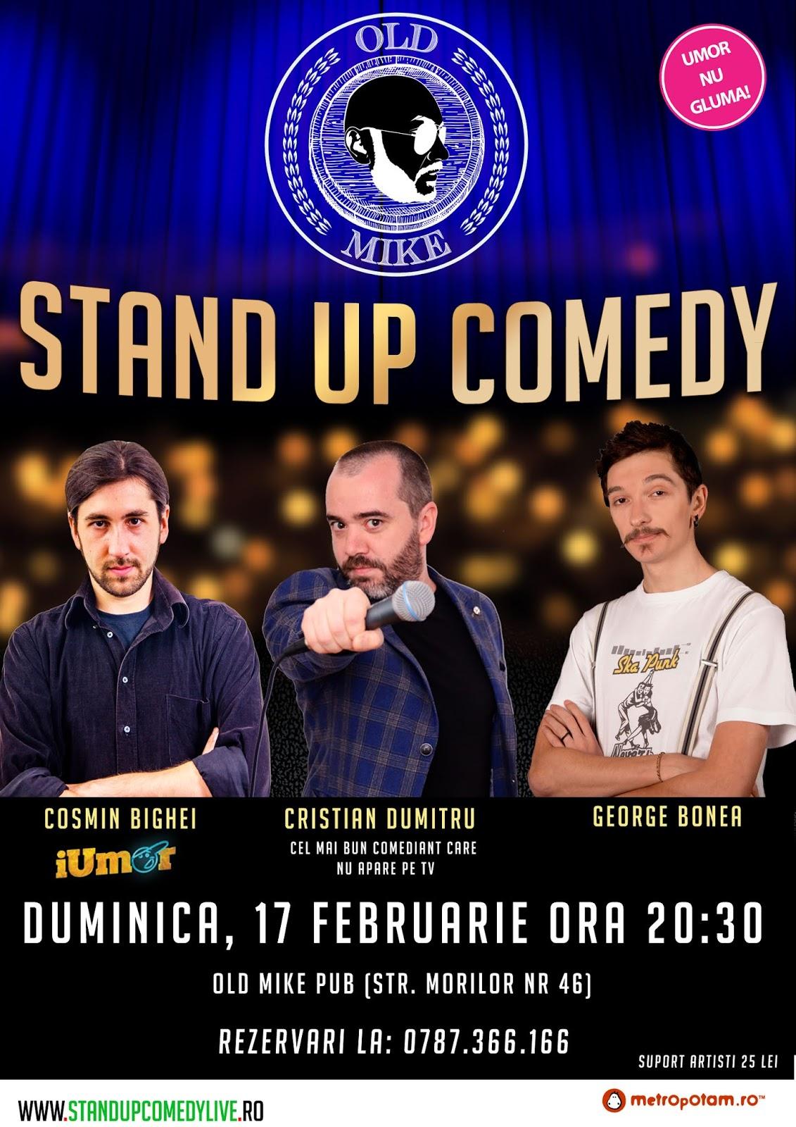 Stand-Up Comedy Duminica 17 Februarie Bucuresti