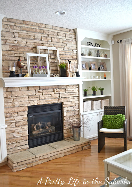 Simple Spring Mantel