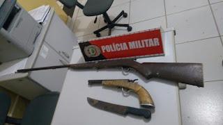 Homem é preso por posse ilegal de armas de fogo, disparo e ameaça em Picuí