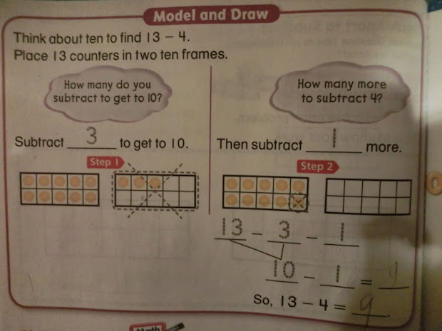 Common Core Math First Grade Subtraction