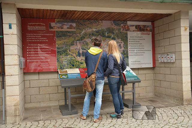 Mapa twierdzy Königstein